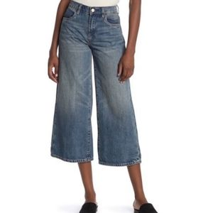 BlankNYC Denim wide leg crop jeans